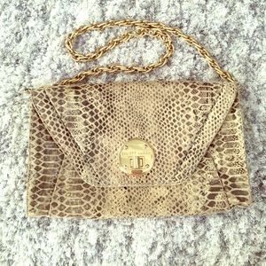 ELLIOTT LUCCA Leather Chain Clutch